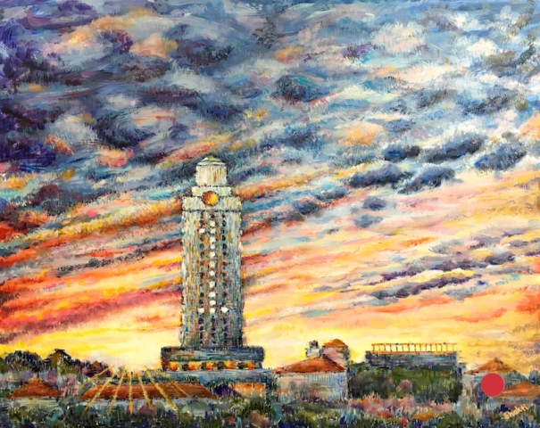 UT TOWER AT SUNRISE