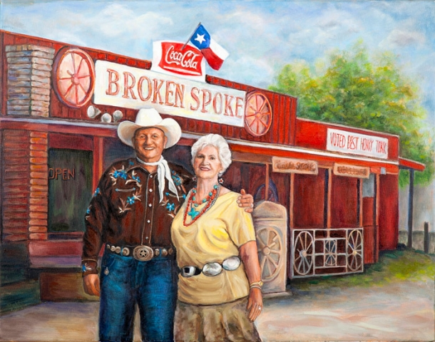 PORTRAIT OF JAMES M. AND ANNETTA WHITE: THE BROKEN SPOKE