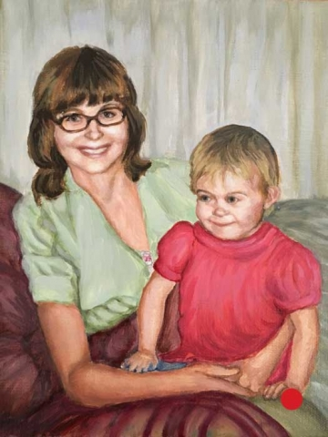 KIM AND MOM