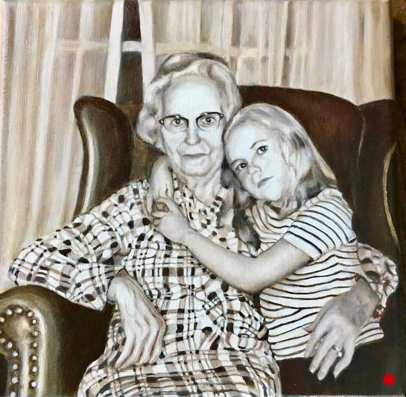 Lisa and Ma Ma - painting by Shakti Sarkin